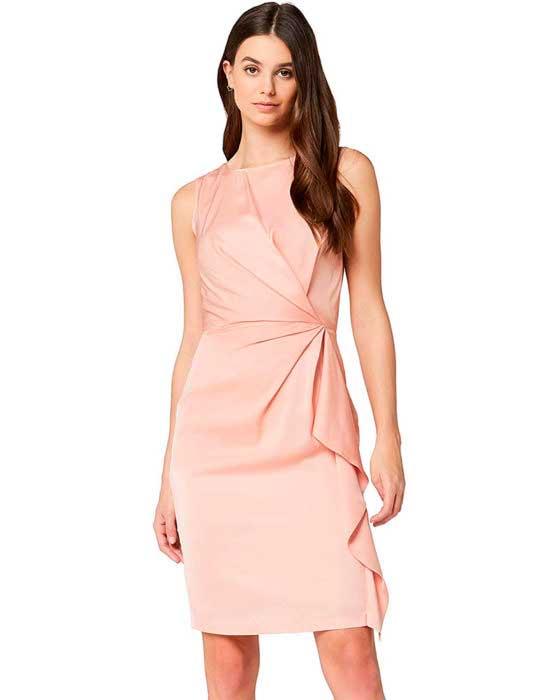Vestidos color palo rosa cortos