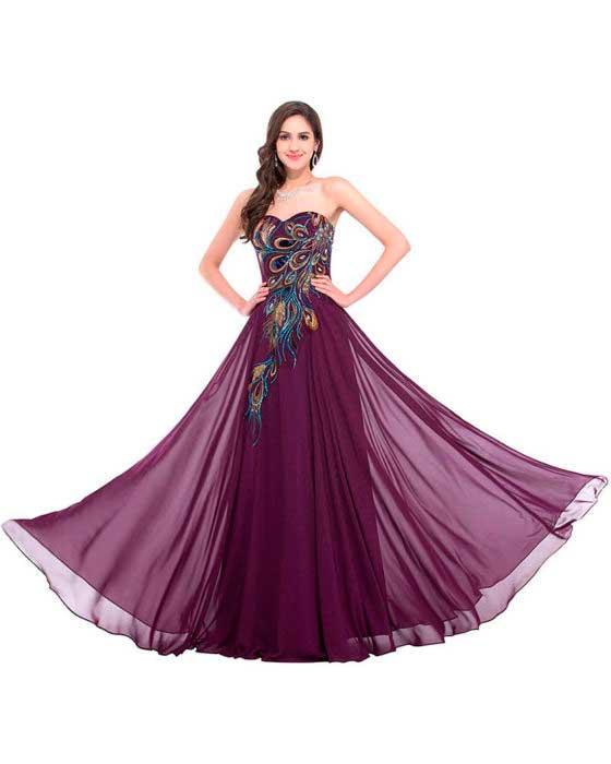 Vestidos Largos sin Tirantes Elegante