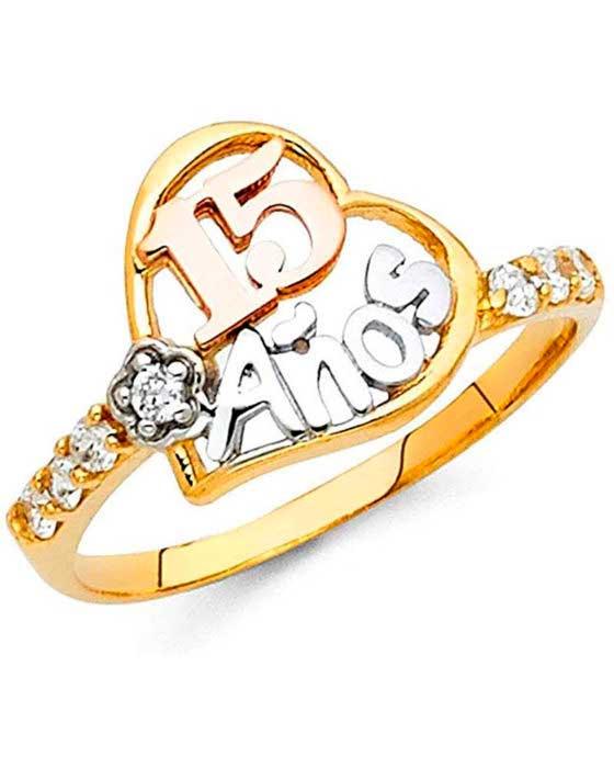anillos de 15 años