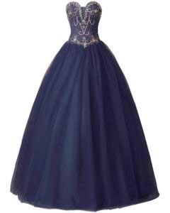 vestido de 15 años azul