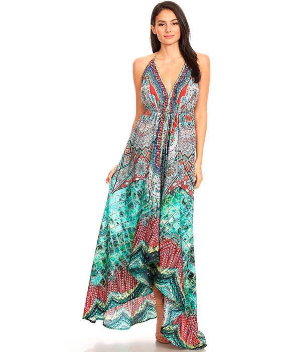 vestidos de playa largo
