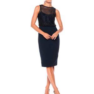 vestido corto color negro